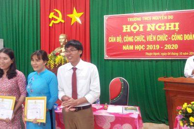 Hội nghị Cán bộ, công chức, viên chức- Công đoàn trường THCS Nguyễn Du Năm học 2019-2020